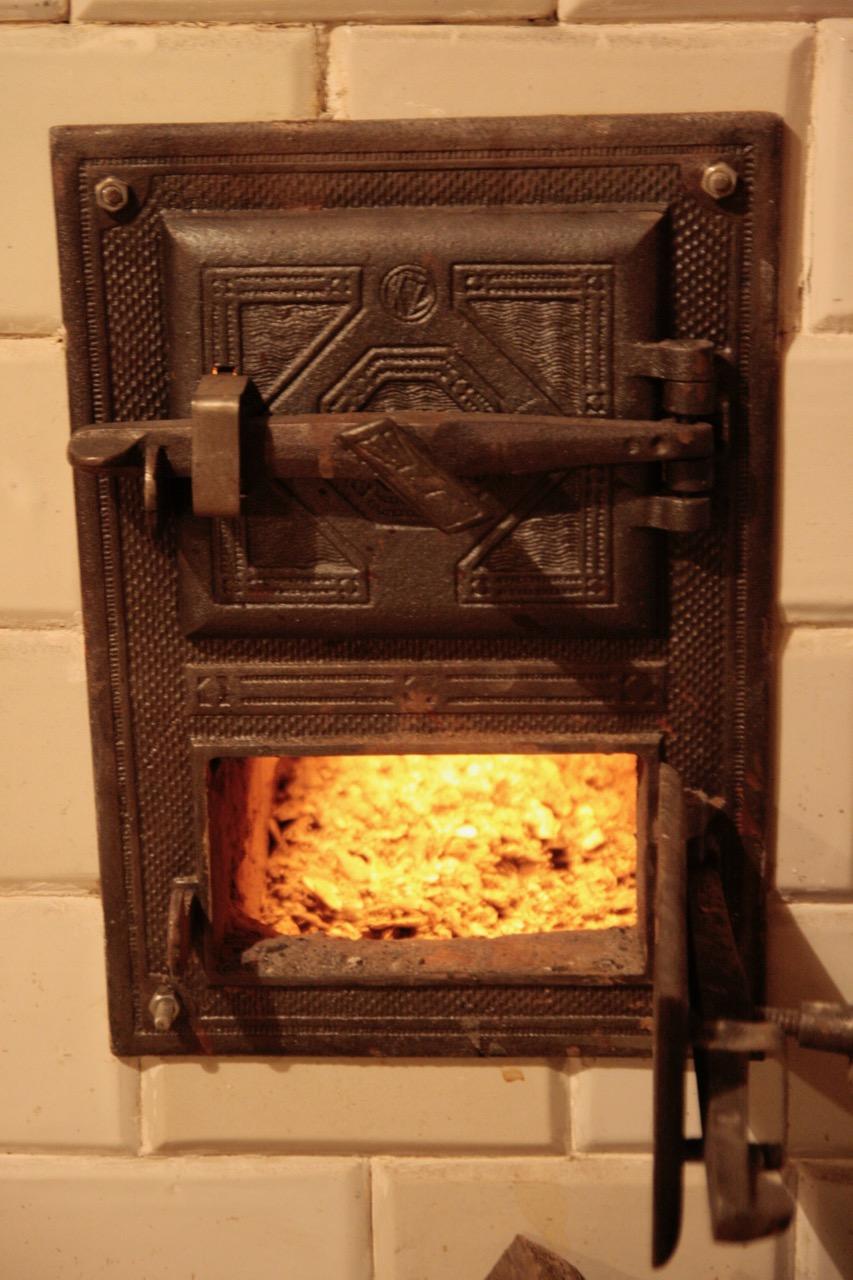 drzwiczki kuchni kaflowej, popielnik