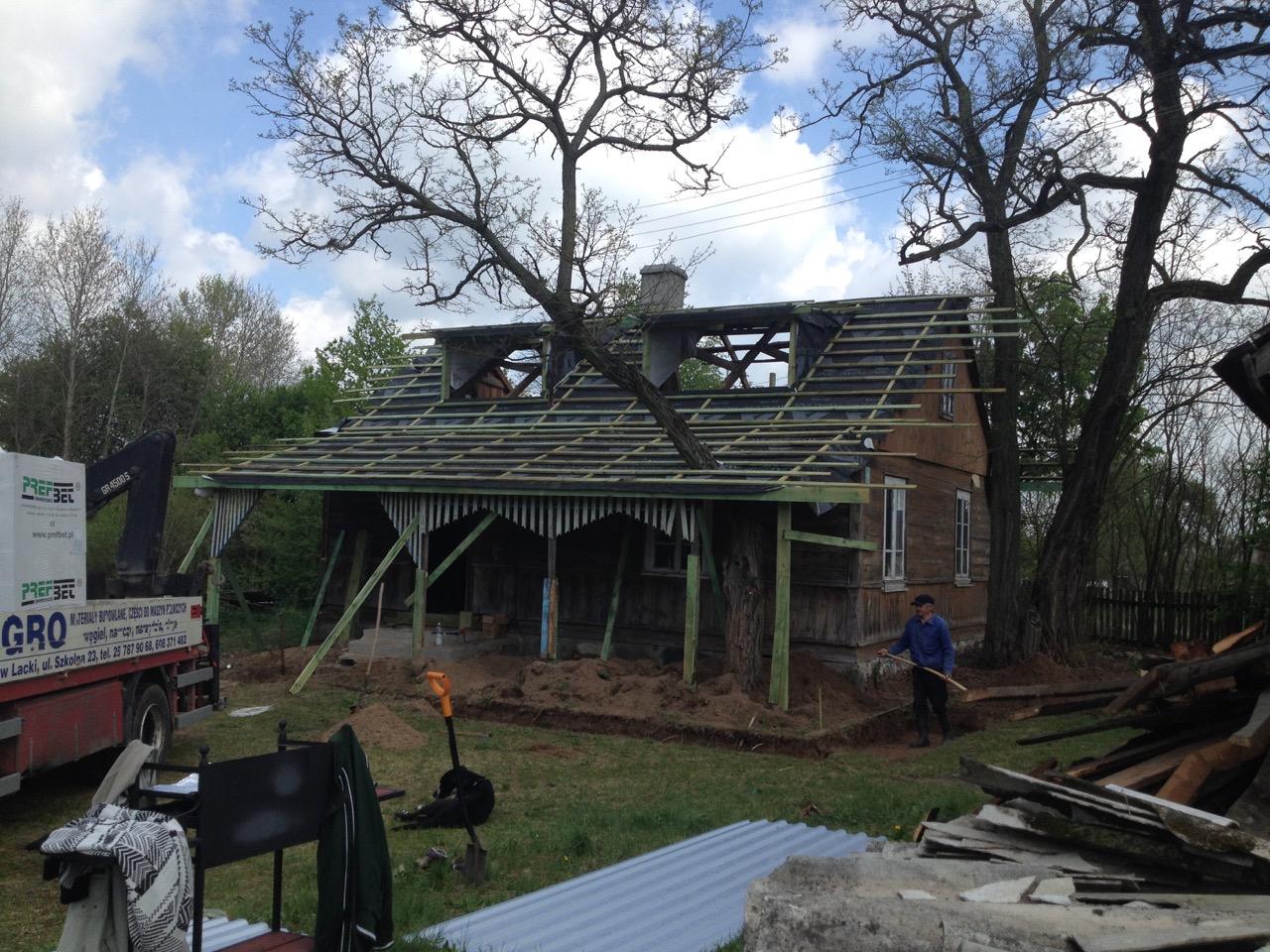 nowy dach na starej chałupie