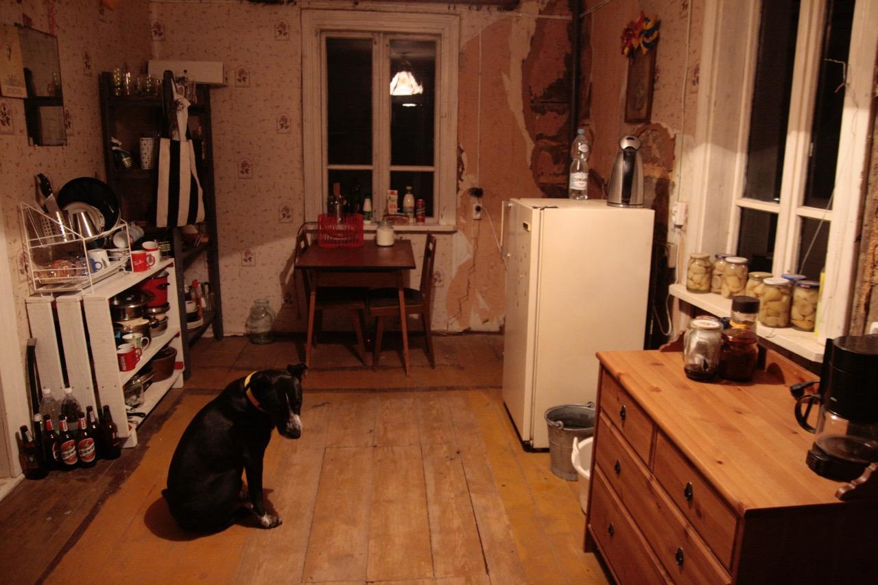 kuchnia wiejska chata meble z odzysku